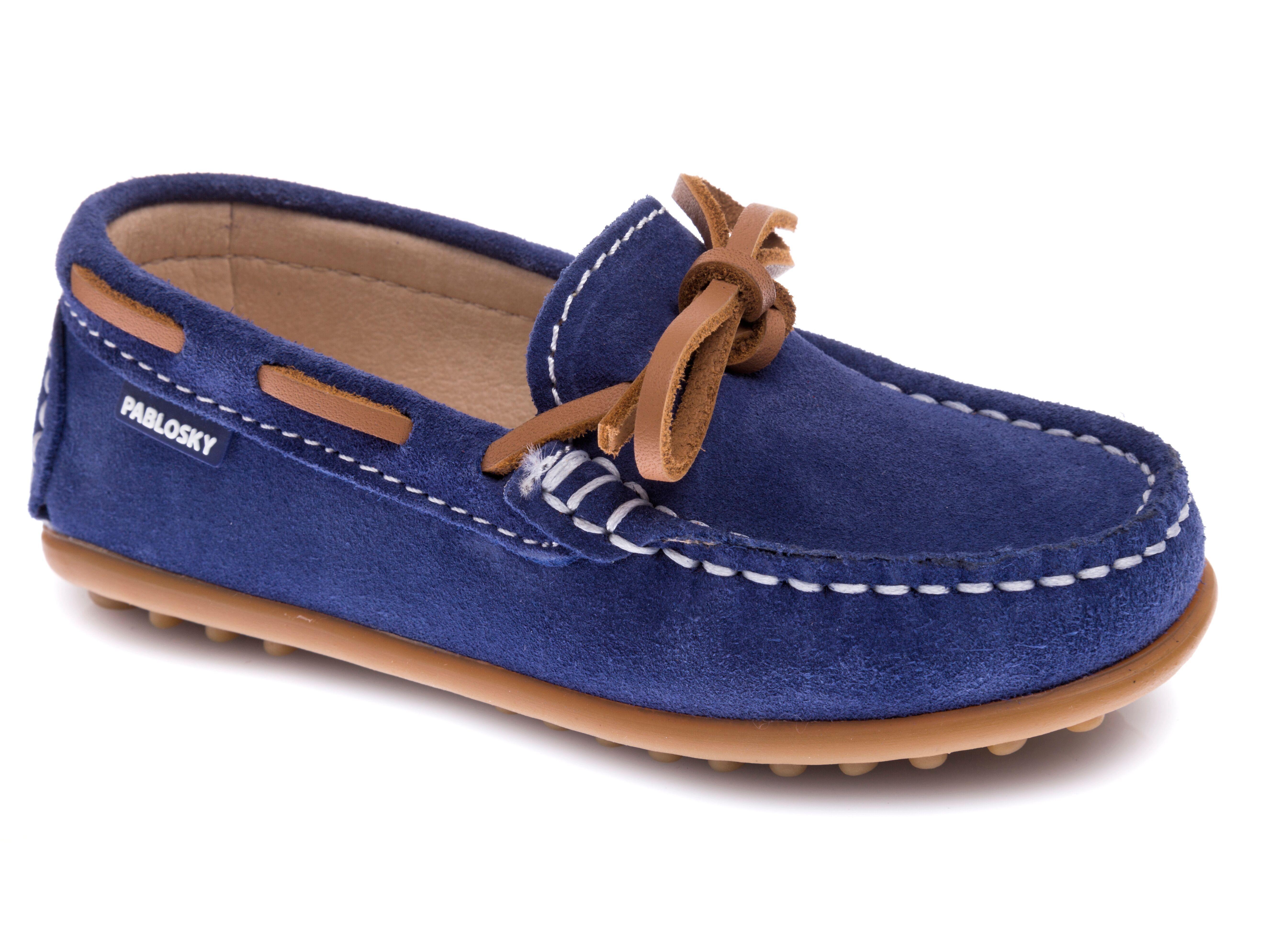 d21c74847 Zapatos mocasín de piel serraje de color azul