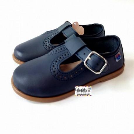 Zapatos para niño en piel de color azul marino, de Osito by Conguitos