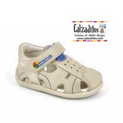 Sandalias de piel para niño modelo Maya Lino, de Pablosky