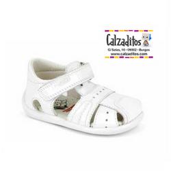 Sandalias de piel para niño modelo Olimpo Blanco, de Pablosky