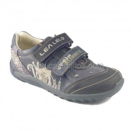 Zapatos-deportivos azul marino con velcros, de Lea Lelo