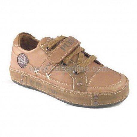Zapatos de piel Sport color camel de Lea Lelo