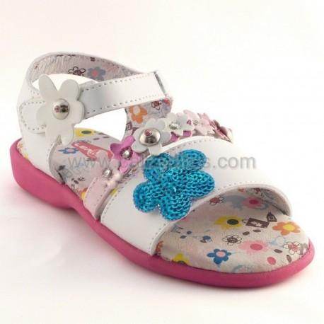 Sandalias de piel con fantasía con velcro, de Lea Lelo