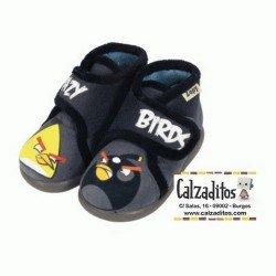 Zapatillas de estar en casa de color gris marengo de CRAZY BIRDS con velcro, de Zapy