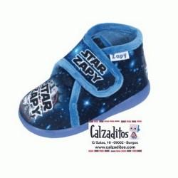 Zapatillas de estar en casa de color azul de STAR ZAPY con velcro, de Zapy
