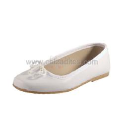 Francesitas blancas de piel de Calzaditos