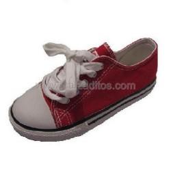 Zapatillas de lona tipo basket en bajo rojas, de Victoria