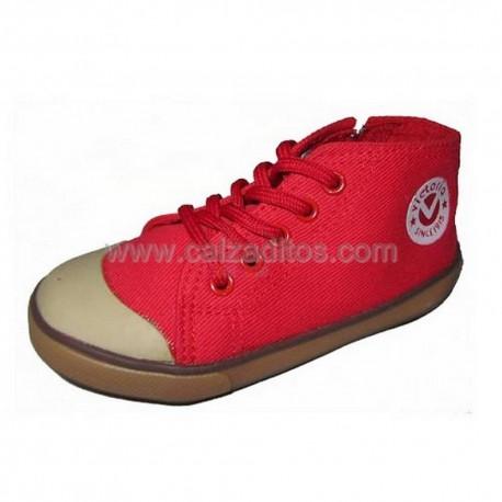 Botas estilo retro de color rojo de Victoria