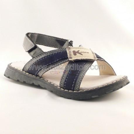 Sandalias de tiras azul marino de Kmina