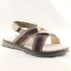 Sandalias de tiras marrón de Kmina