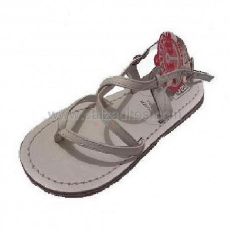 Sandalias de piel blancas de dedo de Gioseppo Kids