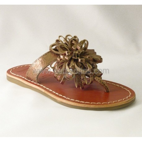 Sandalias de dedo en piel de Gioseppo color bronce