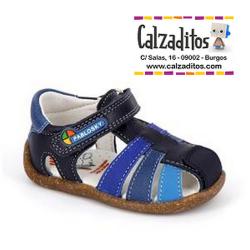 Sandalias bio de piel para niño modelo Maya Marino-Cobalto, de Pablosky