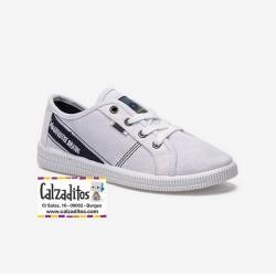 Zapatillas deportivas en lona de color blanco para niño, de Lois