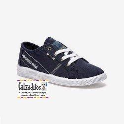 Zapatillas deportivas en lona de color azul marino para niño, de Lois