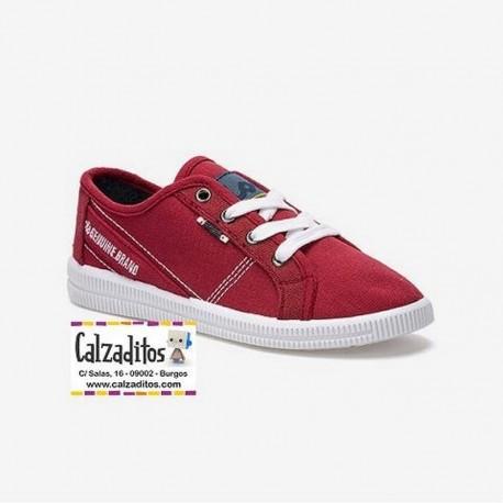 Zapatillas deportivas en lona de color rojo para niño, de Lois
