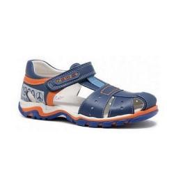 Sandalias de piel azul para niño, de Pablosky