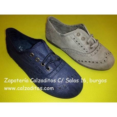 Zapatitos blucher unisex con cordones de Vulnanes
