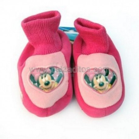 Calcetines rosas de estar en casa de Minnie Mouse (Disney)