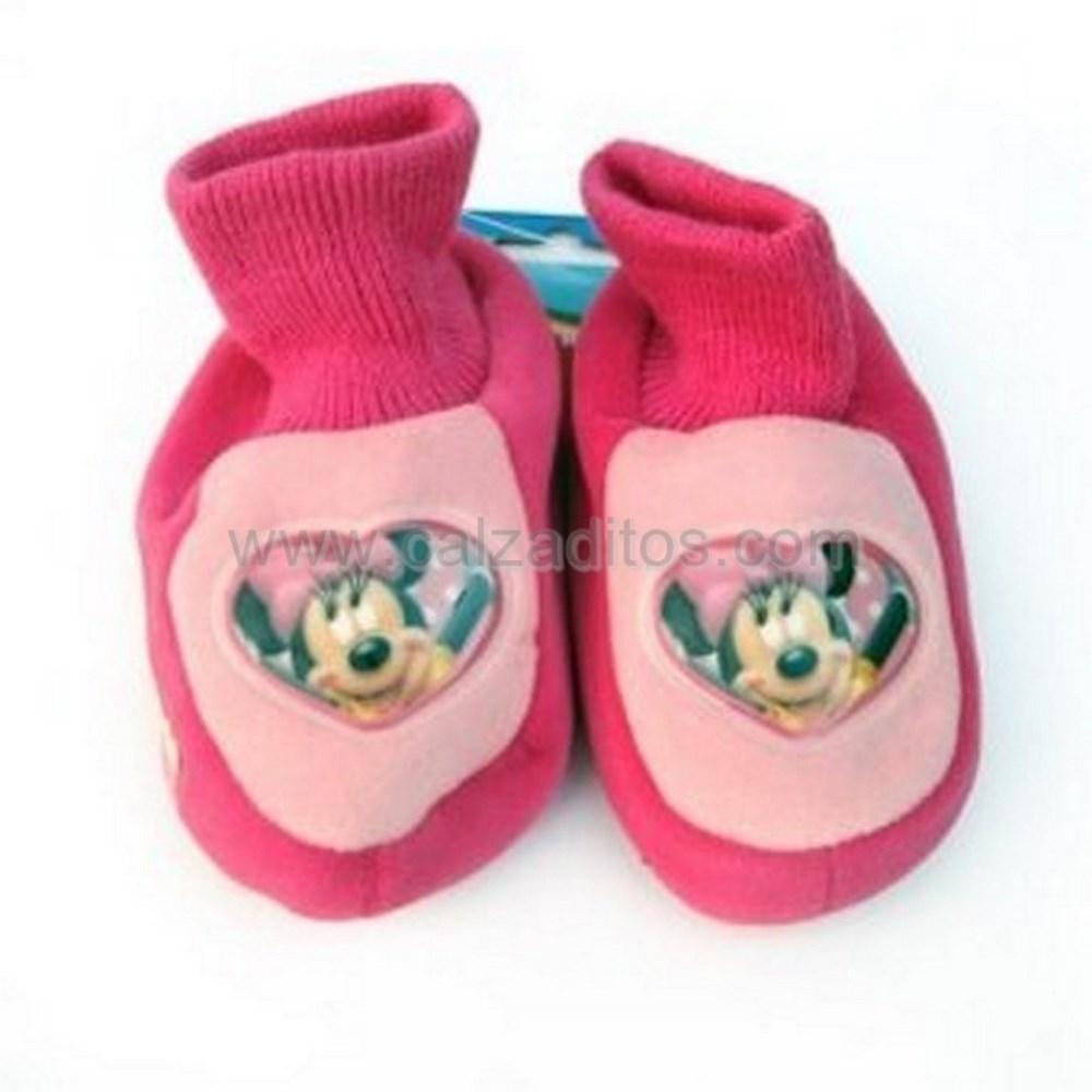 Calcetines rosas de estar en casa de Minnie Mouse (Disney) - Calzaditos