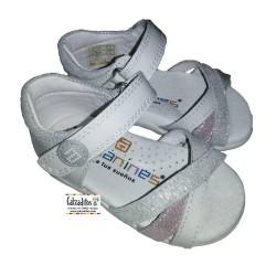 Sandalias de charol para niña primeros pasos de Andanines