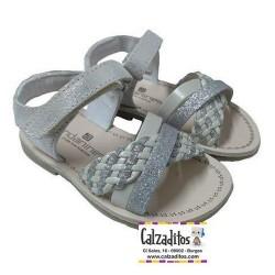 Sandalias destalonadas para niña, de Andanines