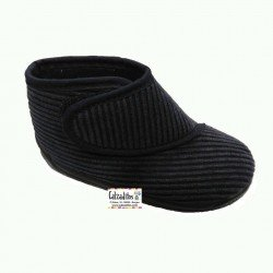 Zapatillas de estar en casa de pana con velcro, marca Batilas