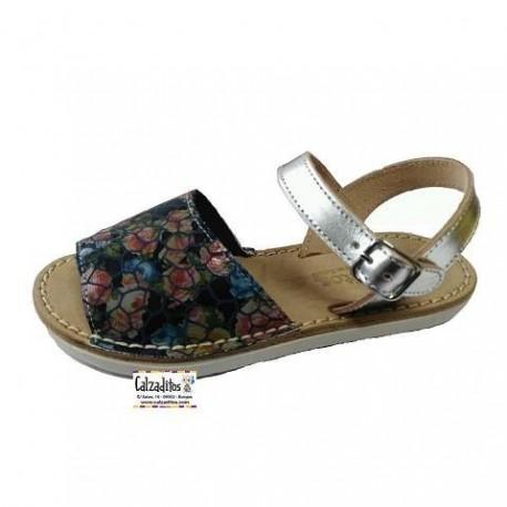 Sandalias de piel para niña de Conguitos Goflex