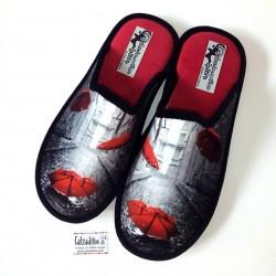 Zapatillas de estar en casa con suela relax de paragüas