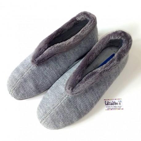 Zapatillas de estar en casa grises con cuña de Zel's