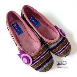 Zapatillas de estar en casa en tejido multicolor de Zel's