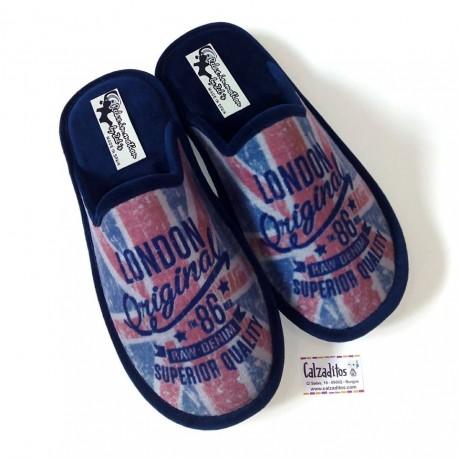 Zapatillas de casa con suela relax modelo London, marca Zel's
