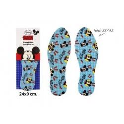 Par de plantillas infantiles de uso diario en textil de Mickey Mouse