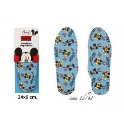 Par de plantillas deportivas infantiles en textil de Mickey Mouse