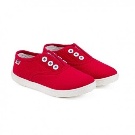 Zapatillas de lona roja sin cordones, de Conguitos Basic