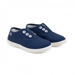 Zapatillas de lona azul marino sin cordones, de Conguitos Basic