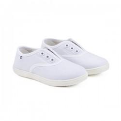 Zapatillas de lona blanca sin cordones, de Conguitos Basic