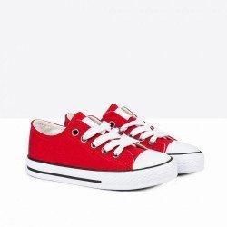 Zapatillas de lona blanca tipo basket bajas con puntera, de Badboy