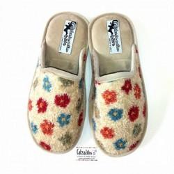 Zapatillas para estar en casa de flores con suela relax de Zel's