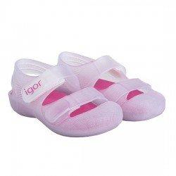 Zapatillas de agua para niña con velcro modelo Bondi bicolor fucsia/aguamarina, de Igor