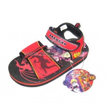 Sandalias rojas de Bakugan en textil con velcro