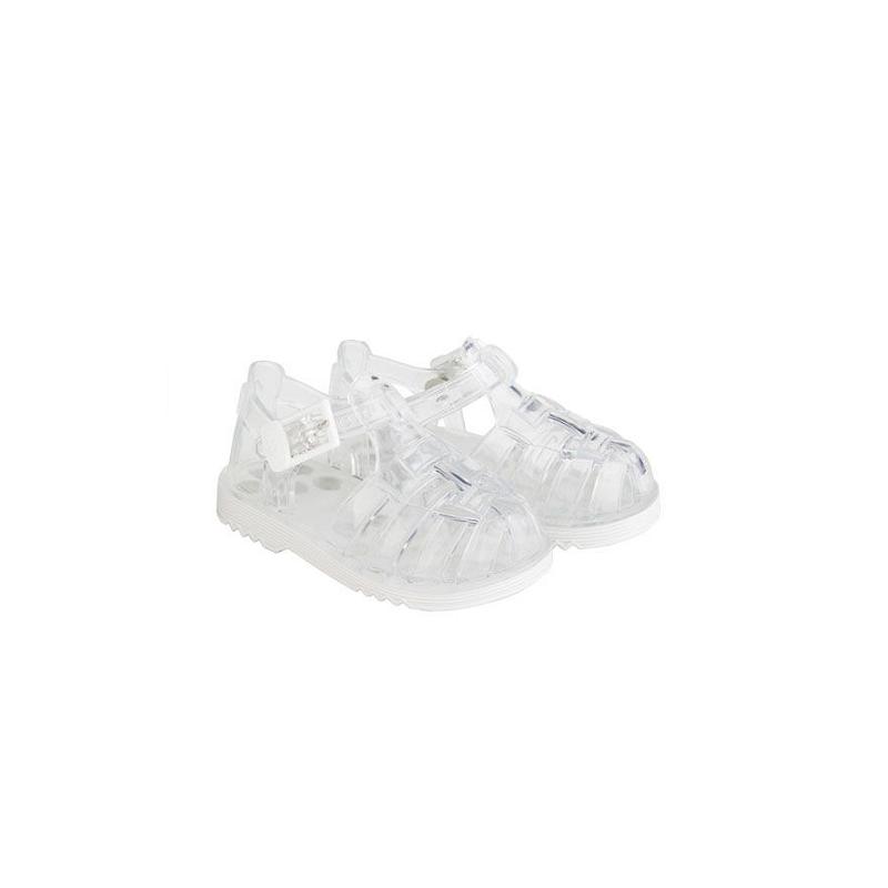 8de368b1c Sandalias de agua en goma transparente con hebilla modelo Cholo