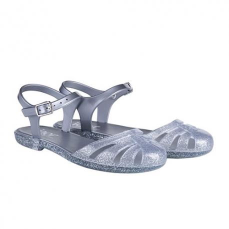 Sandalias de agua estilo bailarina modelo Mara Mini purpurina plata, de Igor