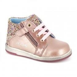 Botines casual para niña en rosa nacarado de Pablosky