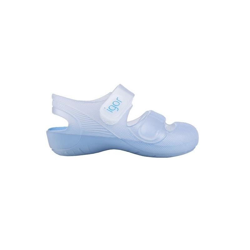 IGOR Zapatillas de Agua Unisex con Velcro Modelo Bondi Bicolor, de Azul Marino, 32