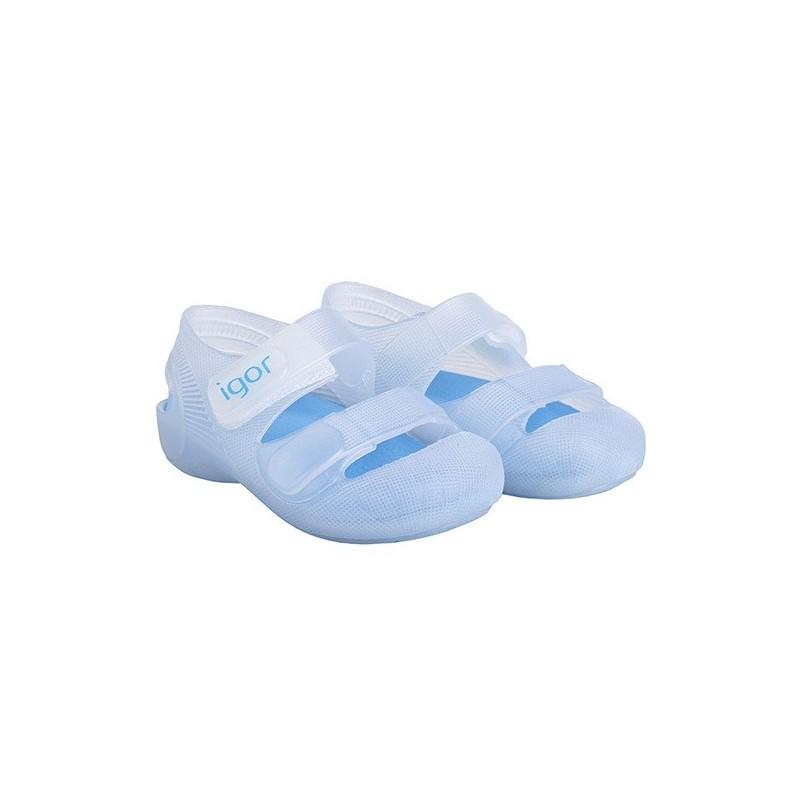 IGOR Zapatillas de Agua Unisex con Velcro Modelo Bondi Bicolor, de Azul Marino, 18