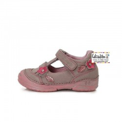 Sandalias de piel lila para niña de D.D.Step