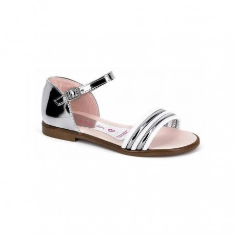 Sandalias de piel con talonera de Paola Shoes de Pablosky
