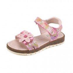 Sandalias para niña con estampado de flores, de Garvalín