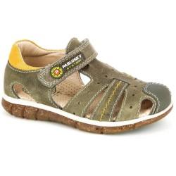Sandalias de Pablosky en piel para niño con velcro